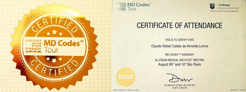 Certificação de Formação do Dr.Cláudio Lemos
